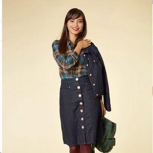 ModCloth My Neighbor Toronto Denim Skirt Small